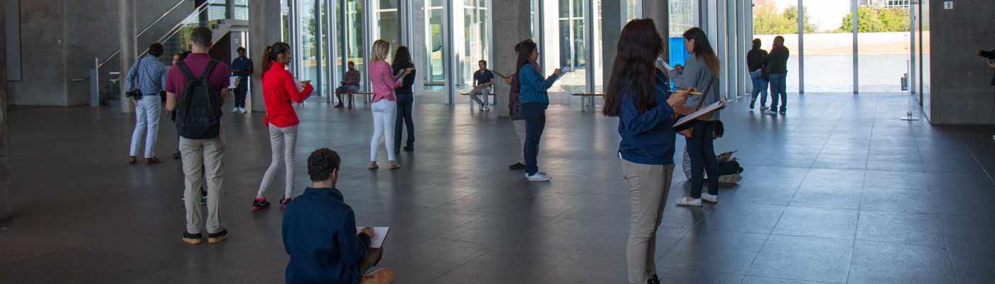 Students at Modern Art Museum