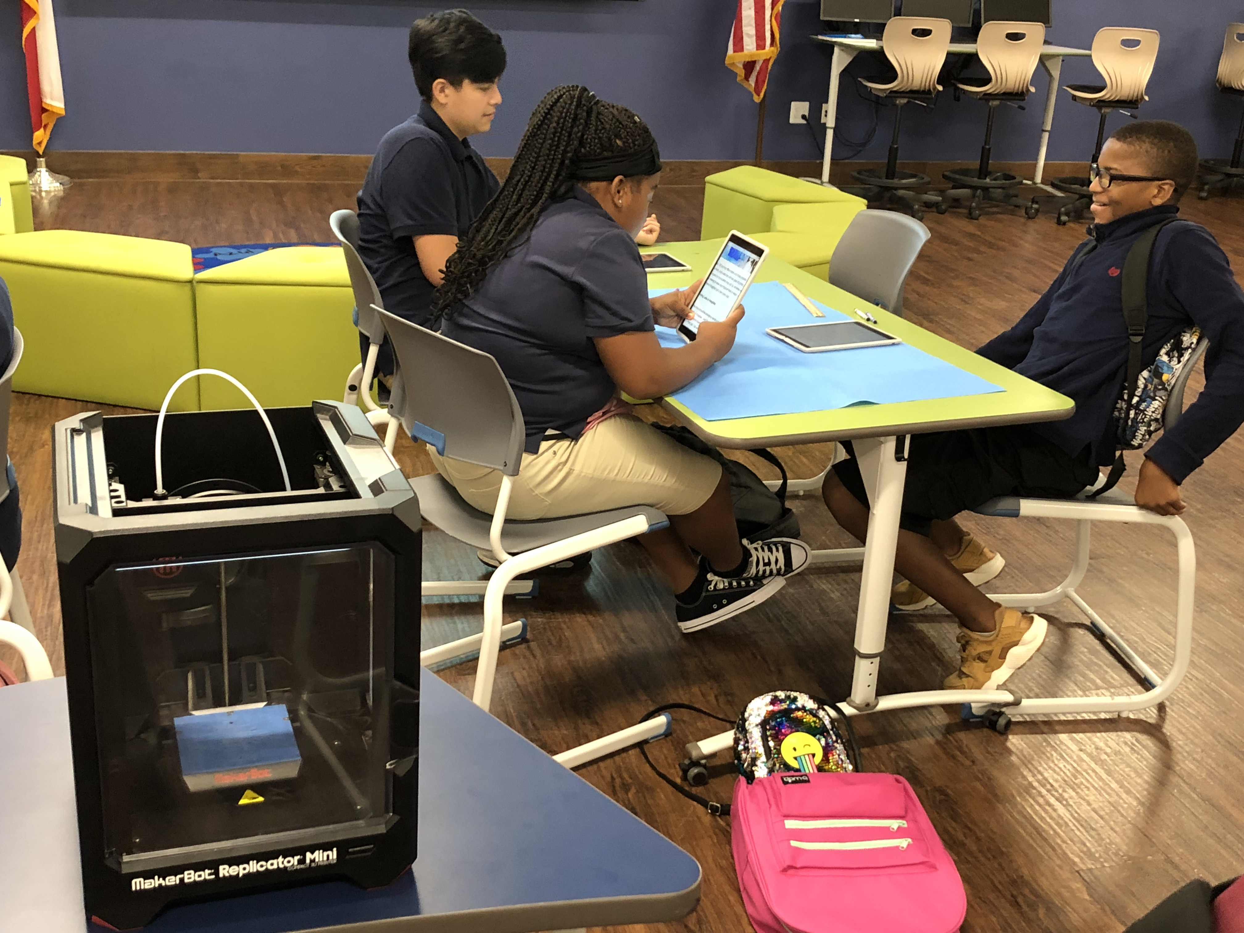 students in the makerspace