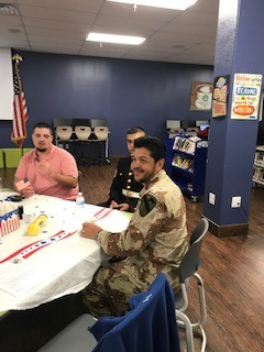 Veterans visiting Faith Family.